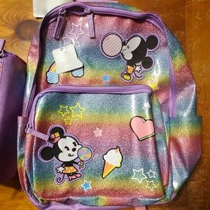 Disney Other - Mickey and Minnie backpack and lunchbag set